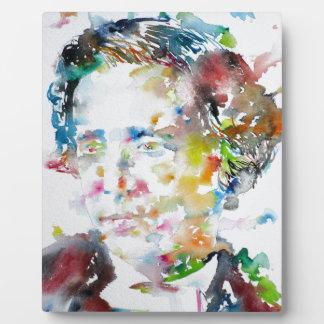 LEWIS CARROLL - watercolor portrait.3 Plaque