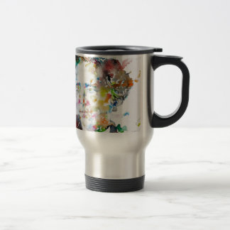 LEWIS CARROLL - watercolor portrait.3 Travel Mug