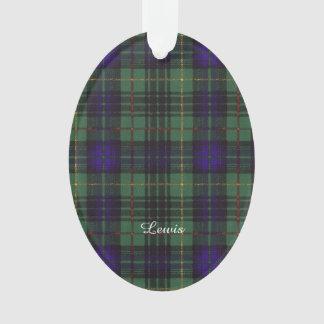 Lewis clan Plaid Scottish kilt tartan Ornament