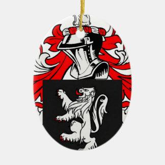 Lewis Coat of Arms Ceramic Ornament