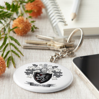 Lewis Family Crest Coat of Arms Key Ring
