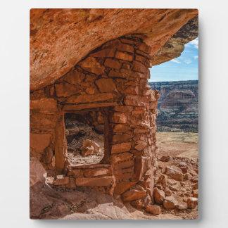 Lewis Lodge Anasazi Ruin - Cedar Mesa - Utah Display Plaque