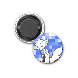 Lewis Loves Coffee Blue Magnet