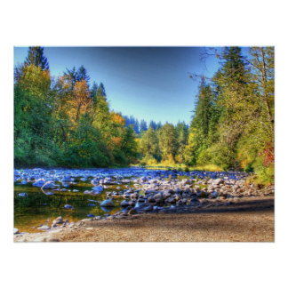 Lewis River Poster