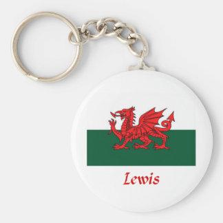 Lewis Welsh Flag Key Chain