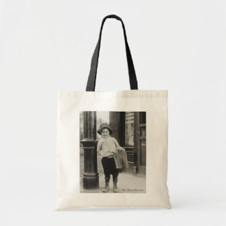 Lewis Wickes Hine - Newsboy in St. Louis, Missouri Tote Bag