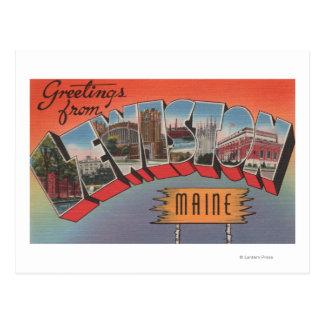 Lewiston, Maine - Large Letter Scenes Postcard