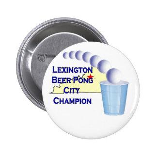 Lexington Beer Pong Champion Pinback Buttons