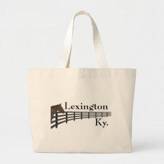 Lexington Kentucky Horse and Fence Jumbo Tote Bag