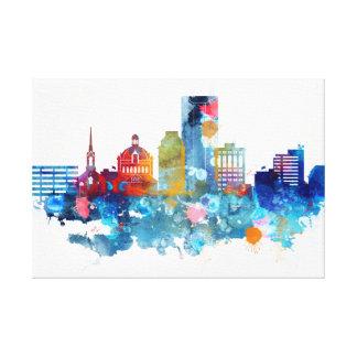 Lexington, Kentucky watercolor skyline Canvas Print