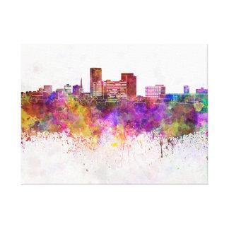 Lexington skyline in watercolor background canvas print