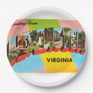 Lexington Virginia VA Old Vintage Travel Postcard- 9 Inch Paper Plate