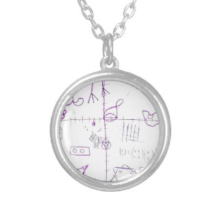 Lexographical Symbolmantic Grimoire by Luminosity Silver Plated Necklace