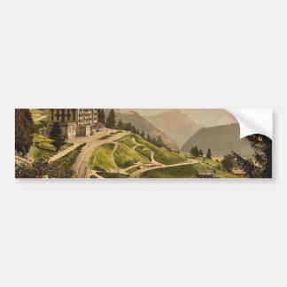 Leysin, Grand Hotel, Nand of Canton, Switzerland v Bumper Sticker