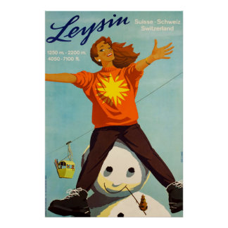 Leysin,Switzerland,Ski Poster