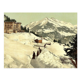 Leysin, the sanatorium and Chaussy in winter, Nand Postcard