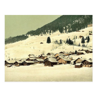Leysin, the village and sanatorium in winter, Nand Postcard
