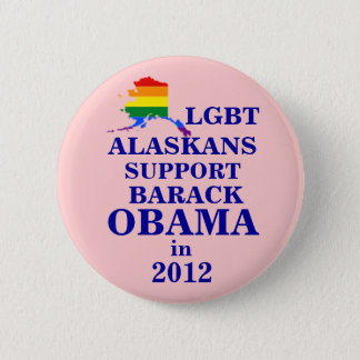 LGBT Alaskans for Obama 2012 6 Cm Round Badge