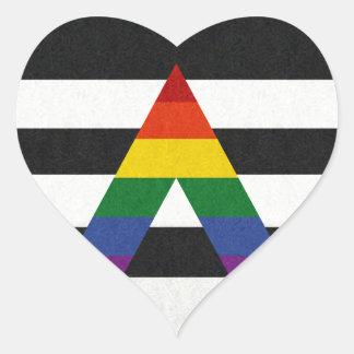 LGBT Ally Flag Heart Sticker