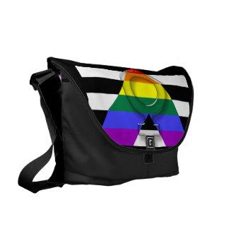 LGBT Ally Large Messenger Bag Inside Print