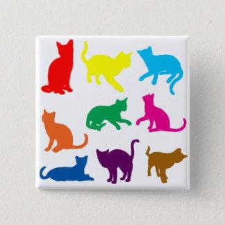 LGBT Cats 15 Cm Square Badge