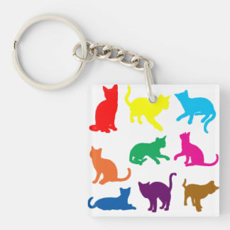 LGBT Cats Key Ring