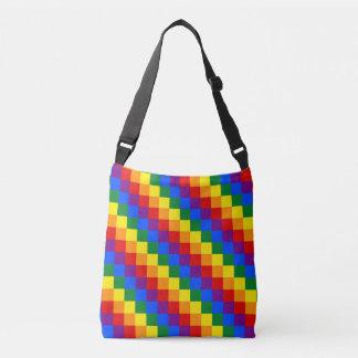 LGBT checkered pattern Crossbody Bag