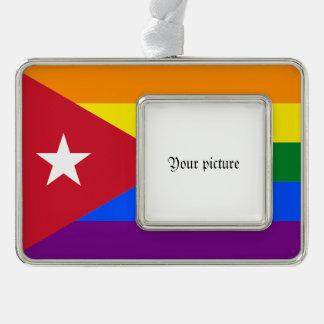 LGBT Cuba Silver Plated Framed Ornament