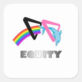 LGBT Dolphin Square Sticker