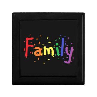 LGBT Family Logo. Small Square Gift Box