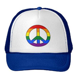 LGBT flag peace sign Trucker Hat