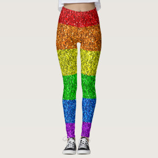 LGBT flag vibrant sparkles Leggings