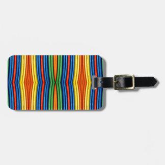 LGBT Funky Bowed Linear Pattern Bag Tag