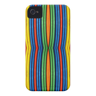 LGBT Funky Bowed Linear Pattern iPhone 4 Covers