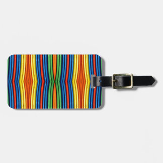 LGBT Funky Bowed Linear Pattern Luggage Tag