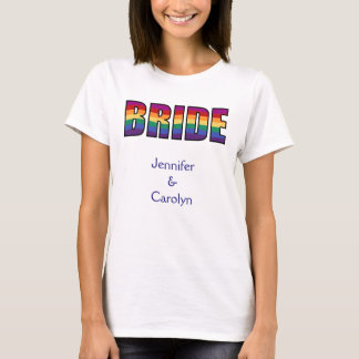 LGBT Gay Pride Bride T-Shirt