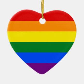 LGBT Gay Pride Rainbow Flag Stripe Ornament