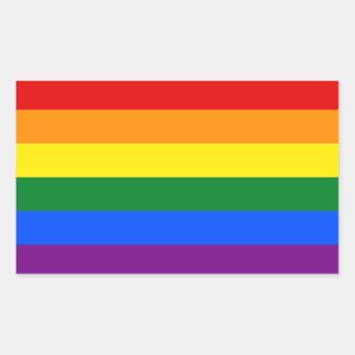 LGBT Gay Pride Rainbow Flag Stripe Rectangular Sticker