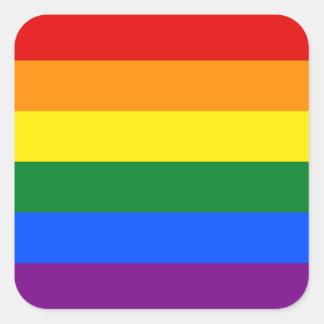 LGBT Gay Pride Rainbow Flag Stripe Square Sticker