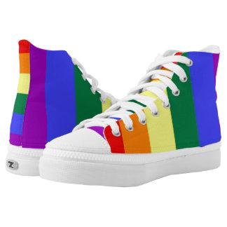 LGBT Gay Pride Rainbow High Tops