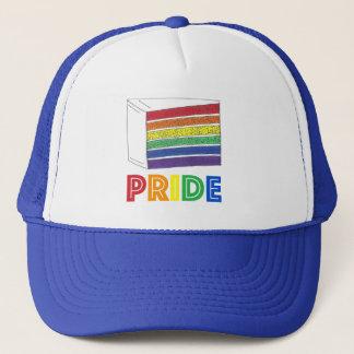 LGBT Gay Pride Rainbow Layer Wedding Cake Slice Trucker Hat