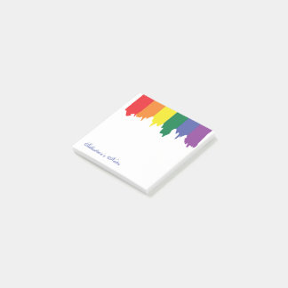 LGBT Gay Pride Rainbow Paint Personalised Post-it® Notes
