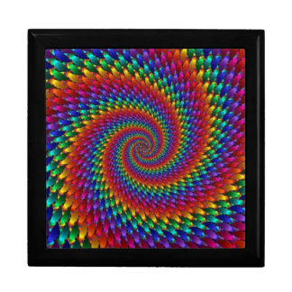 LGBT Gay Pride Rainbow Spiral Fractal Infinity Gift Box