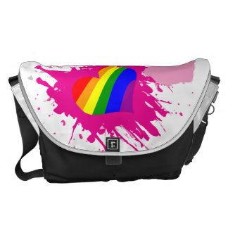 LGBT Hearts Courier Bags