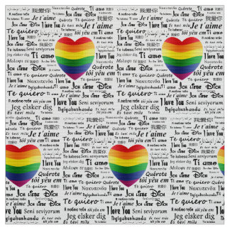 LGBT I Love You Fabric