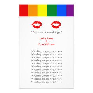 LGBT Lesbian Lips Rainbow Wedding Flyer
