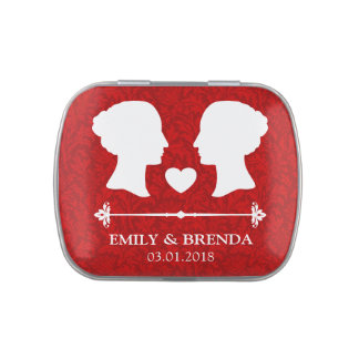 LGBT Lesbian Wedding Two Bride Jelly Belly Candy Tin