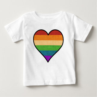 LGBT Love is Love Rainbow Heart Baby T-Shirt