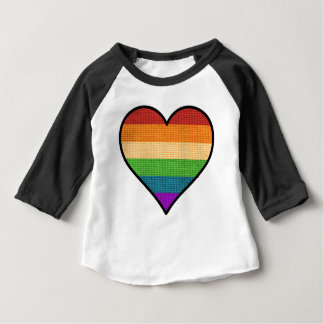 LGBT Love is Love Rainbow Heart Baby T-Shirt