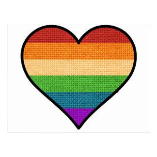 LGBT Love is Love Rainbow Heart Postcard